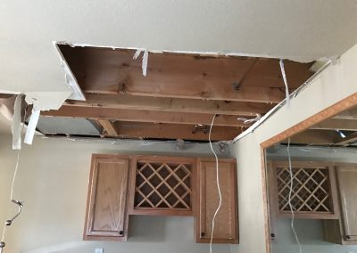 Burst Pipe Water Damaged Ceiling